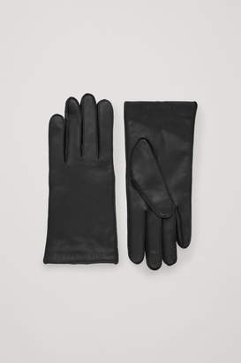 Cos CASHMERE LINED LEATHER GLOVES