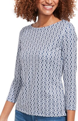 Vineyard Vines Sankaty Print Boatneck Top