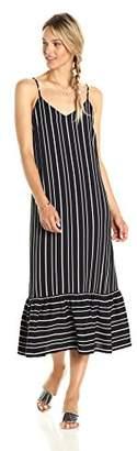 Paris Sunday Women's Spaghetti Strap Bottom Flounce Dress