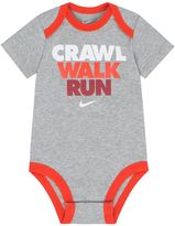 "Nike Baby Boy Crawl Walk Run"" Graphic Bodysuit"