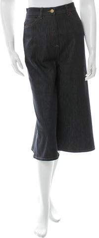 Valentino Cropped Wide-Leg Jeans w/ Tags