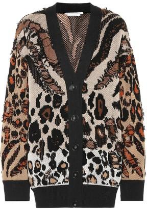 Stella McCartney Exclusive to Mytheresa Animal-jacquard cardigan