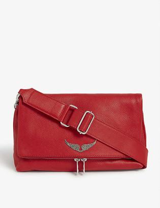 Zadig & Voltaire Rocky grained leather shoulder bag