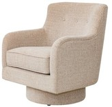 Liya Swivel Armchair Latitude Run Upholstery Color: Taupe
