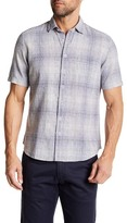 Toscano Faded Checkered Print Shirt
