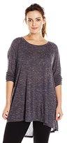 Calvin Klein Plus-Size Women's Spacedye Jersey Relaxed Top