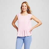 Merona Women's Challis Striped Flounce Tee