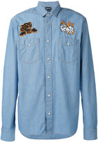 Just Cavalli denim dice patch shirt - men - Cotton - 46