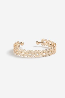 Topshop Womens **Cut Out Cuff Bracelet - Gold