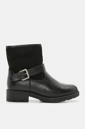Ardene Faux Leather Chelsea Combat Booties - Shoes |