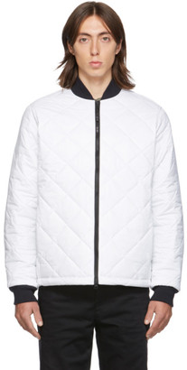 The Very Warm SSENSE Exclusive White Light Quilted Bomber Jacket