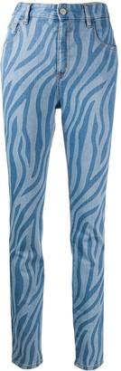 Just Cavalli Zebra-Print Jeans