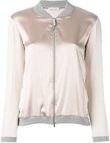 Fabiana Filippi metallic bomber jacket - women - Cotton/Spandex/Elastane/Acetate/Polybutylene Terephthalate (PBT) - 40