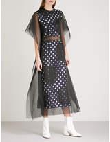 Maison Margiela Dotted chiffon and jacquard dress