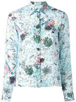 Alice + Olivia Alice+Olivia - doodle print shirt - women - Silk - M