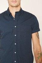 Forever 21 FOREVER 21+ Abstract Polka Dot Shirt
