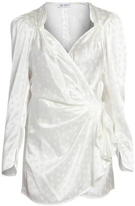 ATTICO Stars Jacquard Wrap Dress