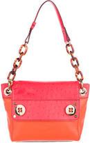 Milly Colorblock Leather Shoulder Bag
