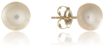 Auree Jewellery Seville White Pearl & Yellow Gold Vermeil Stud Earrings