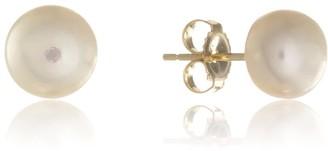 Auree Jewellery Seville White Pearl & Yellow Gold Vermeil Stud Earrings