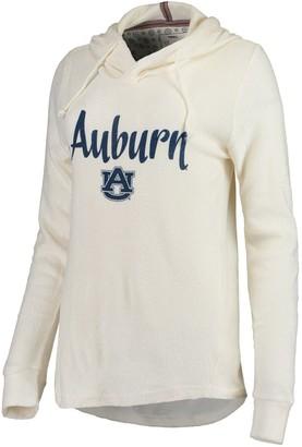 Women's Pressbox Cream Auburn Tigers Supersoft Cuddle Knit Pullover Hoodie