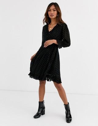 Leon And Harper & Harper Rustica jacquard spot mini dress