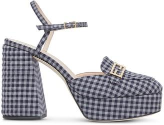 Fendi Promenade 105mm gingham-print loafers
