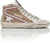 Golden Goose Deluxe Brand Women's Distressed Slide Sneakers-TAN