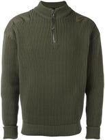 Jil Sander zipped ribbed sweater - men - Polyamide - 46