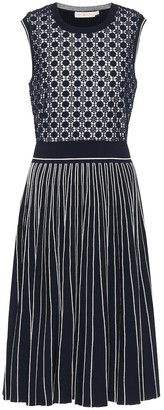 Tory Burch Cotton-blend jacquard midi dress
