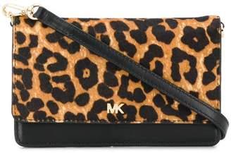 MICHAEL Michael Kors leopard print convertible crossbody bag