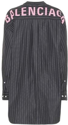 Balenciaga Oversized striped cotton shirt