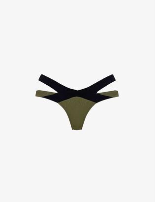 Agent Provocateur Mazzy mid-rise two-tone bikini bottoms