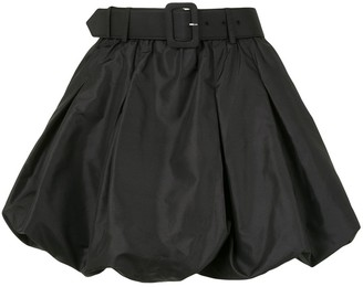 Self-Portrait Puffball-Layer Belted Shorts