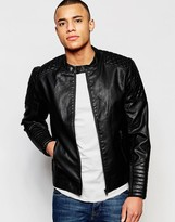 Jack and Jones Faux Leather Jacket