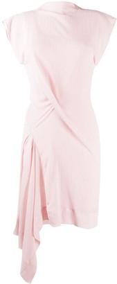 Nina Ricci Asymmetric Fitted Dress