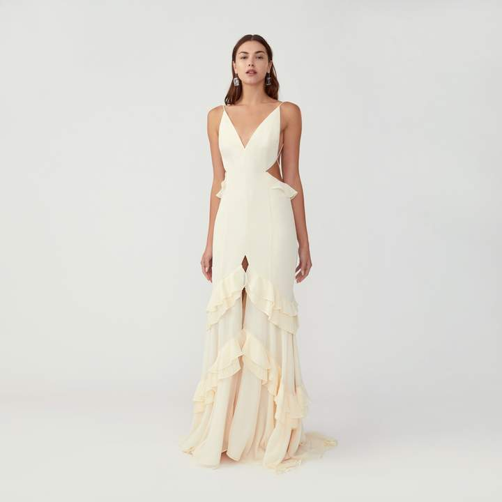 Fame & Partners Cutout Mermaid Dress