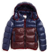 Moncler Boy's Harry Two-Tone Hooded Down Jacket
