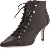 Etienne Aigner Lana Leather Lace-Up Bootie, Black