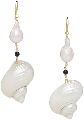 Prada Shell Drop Earrings