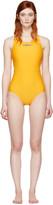adidas by Stella McCartney Yellow Zip Swimsuit