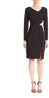 Halston Cutout Sheath Dress