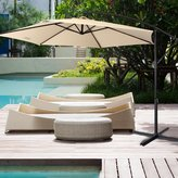 Euro Style Collection 10' Fabric Steel Patio Garden Cantilever Umbrella
