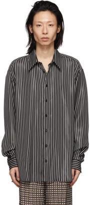 Joseph Black Striped Martin Shirt