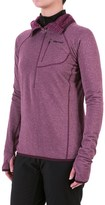 Marmot Powertherm Polartec® Power Wool® Hooded Shirt - Zip Neck, Long Sleeve (For Women)