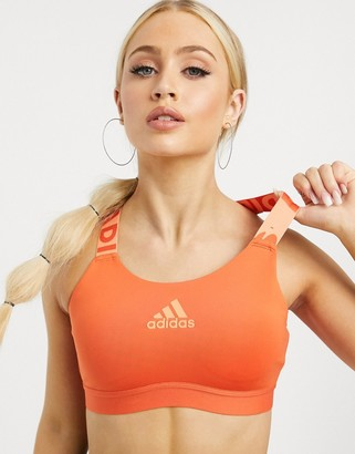 adidas Training bra in orange