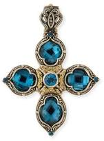 Konstantino London Blue Topaz Cross Enhancer