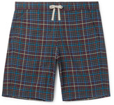 Oliver Spencer Loungewear - Checked Cotton Pyjama Shorts