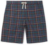 Oliver Spencer Loungewear - Checked Cotton Pyjama Shorts