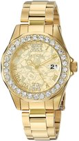 Invicta Women's 'Disney Limited Edition' Quartz Stainless Steel Casual Watch, Color:-Toned (Model: 22870)